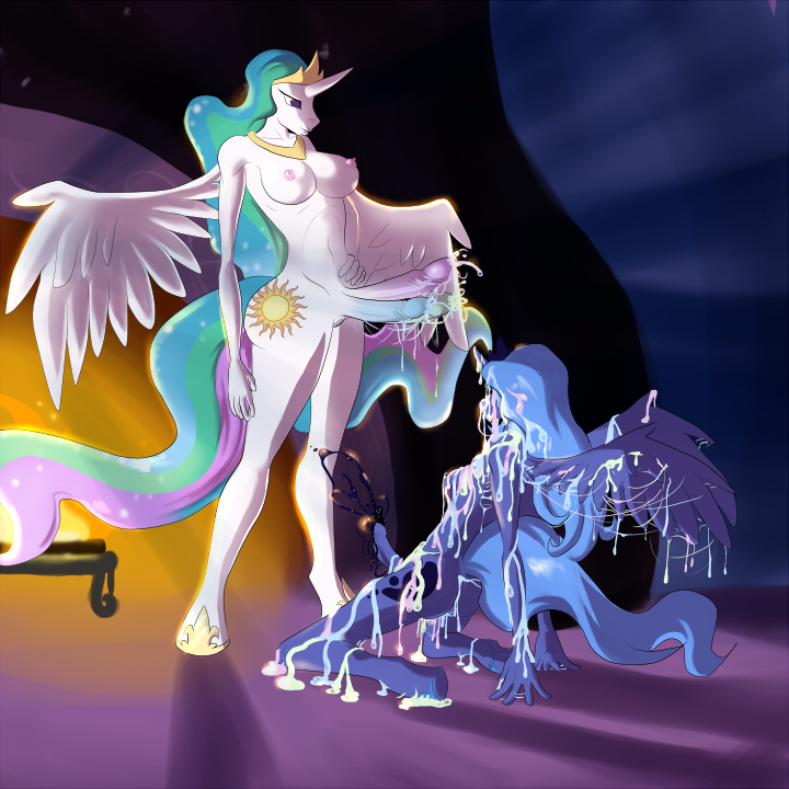 luna celestia princess and What if adventure time was a3d anime