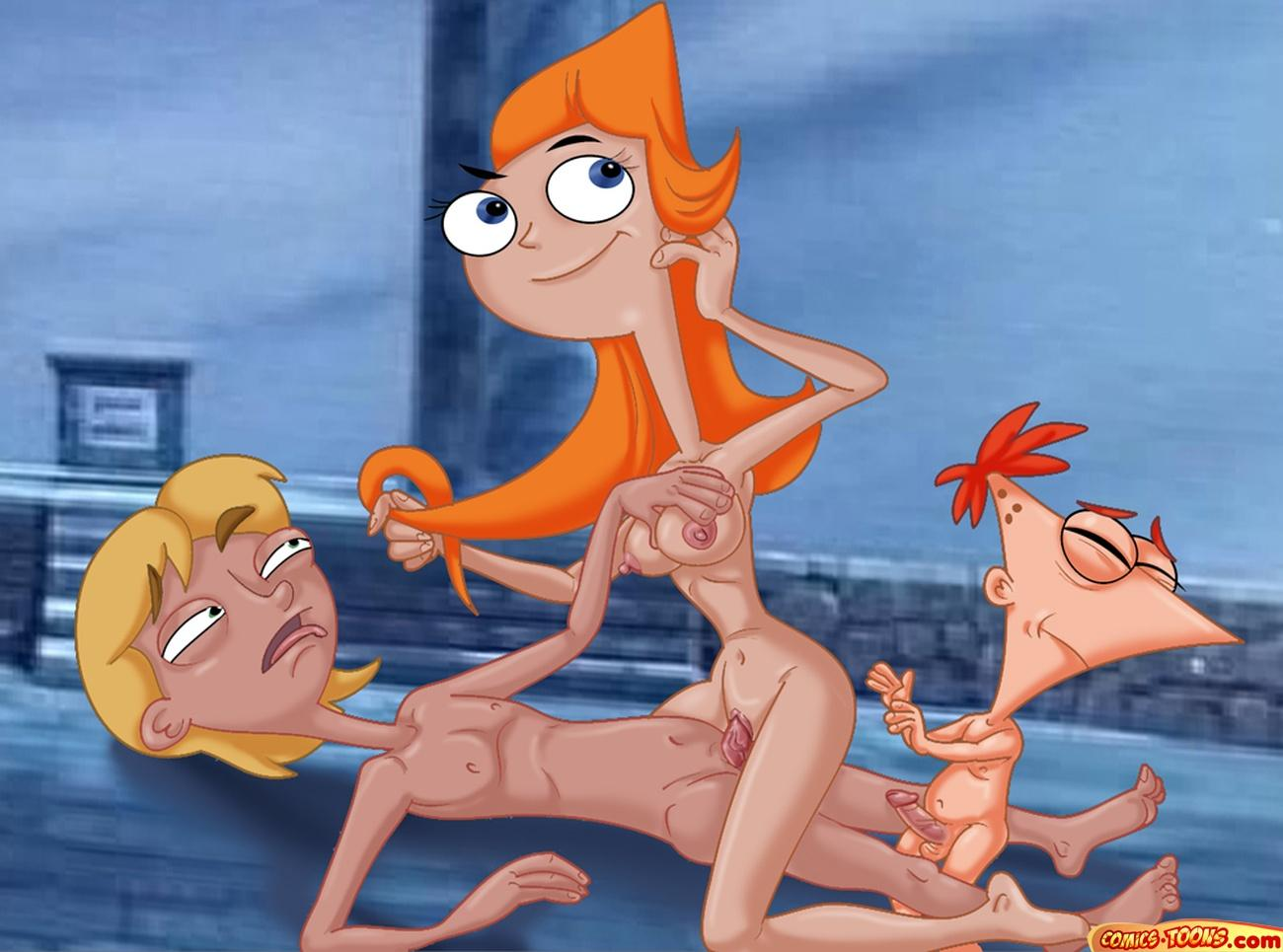 ferb naked candace and phineas Here there be dragons hentai